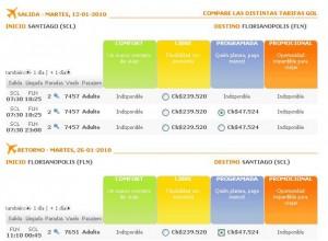 vuelos baratos a florianopolis con gol 300x220 Aerolínea Gol, Vuelos Baratos a Florianópolis desde $47.524