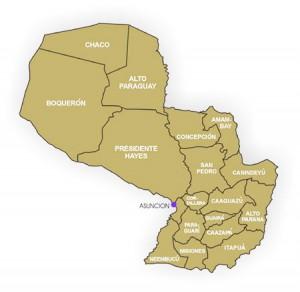 paraguay mapa politico 300x292 Paraguay pide solucionar los retrasos en vuelos