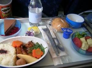 menu catering avion 300x224 Comida o catering en vuelo, revisa diferentes compañias