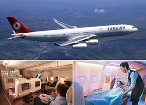 aviones y servicios de Turkish Airlines