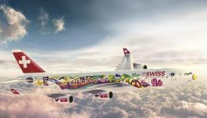 swiss flower power san francisco 300x171 Swiss Airlines decora el cielo con su Flower Power