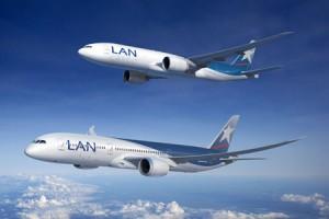 varios aviones lan 300x200 Sigue aumentando trafico aereo de LAN