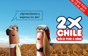 ofertas 2x lan chile 300x190 LAN, ofertas 2x para viajar dentro de Chile