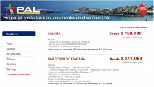 programas pal airlines vacations 300x171 San Pedro de Atacama, pasajes y Hotel desde $217.960 con PAL Airlines